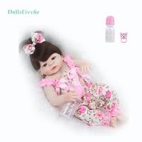 reborn doll 55CM complete silicone realistic doll can bathe bebe reborn fashion princess toy
