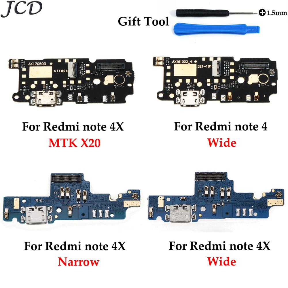 JCD For Redmi Note 4 USB Port Charger Dock Plug Connector Flex Cable For Xiaomi Note 4X Charging Port Board Replacement +Tool