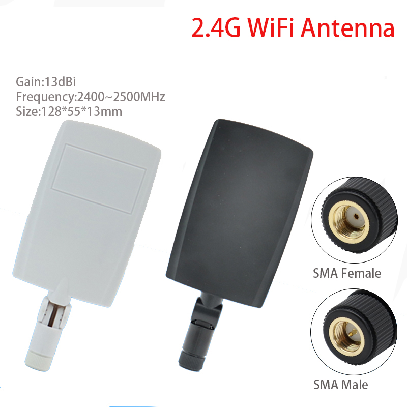 2.4G13dbi Directional Small Board Antenna SMA Interface Wireless Network Card Wireless Route Wireless WiFi Gain 13dbi Antenna