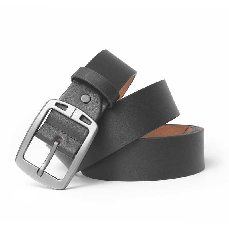 Hohe Qualität Echtes Leder Luxus Strap Männlich Gürtel Für Männer Jeans Casual Gürtel Pin Schnalle Männliche Kummerbund