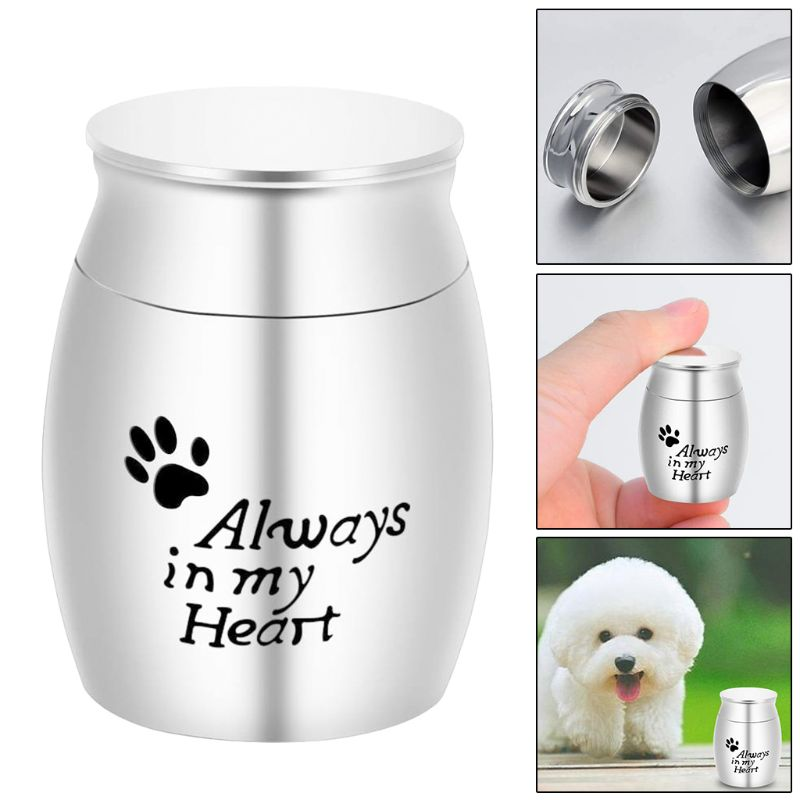Pet Cremation Urns Stainless Steel Ash Memorial Container Dog Cat Perfect Resting Place