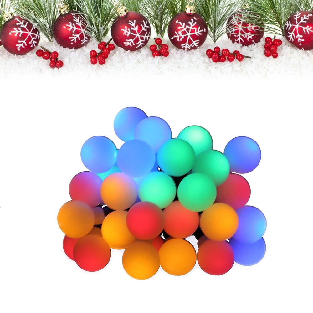 LED Sphere Ball Shape Light String Solar Powered Christmas Decoration 6.3 M