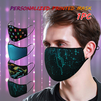1pc Adult Mask Sports Outdoor 3D Printing Dust-proof washable reusable Breathable Face Mouth Cover Cycling Mask for Women Men