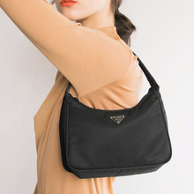 Retro Baguette Bag For Women Trendy Vintage Nylon Handbag Female Small Subaxillary Bags Casual Mini Shoulder Bella 180