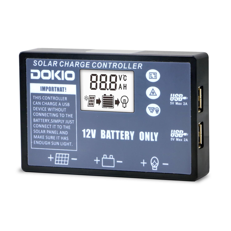 DOKIO Flexible folding solar panel Dedicated Solar controller for 12V battery USB solar controller 1