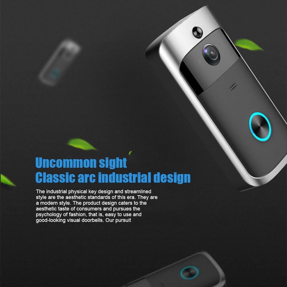 Sans fil WiFi vidéo sonnette téléphone intelligent porte anneau interphone maison sécurité caméra cloche GV99
