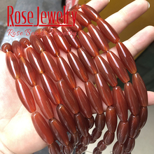 Bracelet Jewelry-Making Agates Beads-Accessory Rice-Shape Natural Wholesale Stone