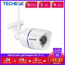Techege 1080P WIFI kamera IP bezprzewodowa ONVIF Audio 2MP zewnętrzne widzenie nocne z wykorzystaniem podczerwieni detekcja ruchu kamera monitorująca wideo