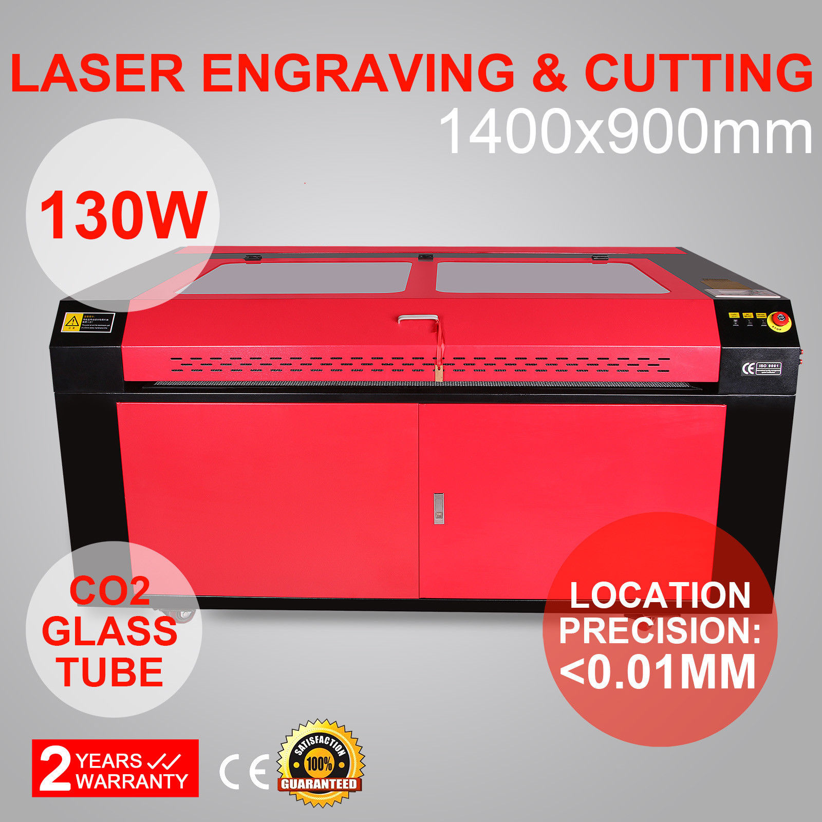 130W CO2 Laser Engraving Cutting Machine 1400x900mm Wood Working Crafts Printer Cutter USB Port