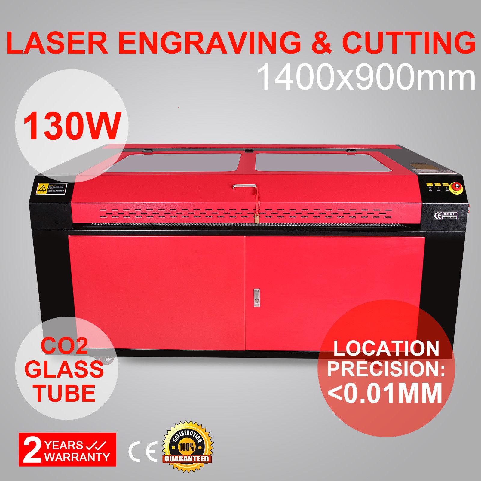 130W CO2 Laser Engraving Cutting Machine 1400x900mm Wood Working Crafts Printer Cutter USB Port
