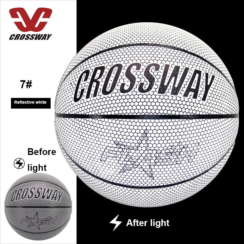 Голографический светоотражающий баскетбольный мяч износостойкий светящийся ночной Светильник баскетбольный светящийся баскетбольный мяч с сумкой-3