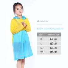 Waterproof Suit Rain-Coat School-Bags Children's Hooded Impermeable-Poncho Girls Outdoor