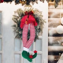 Fowwelt – décoration de noël pour la maison, nouvel an, arbre de noël, Table, porte, fenêtre, ornements décoratifs, elfe sur étagère, cadeau de noël, 2021