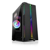 Desktop-Computer Fall ATX Full-view Seite Transparent RGB PC Fall Unterstützung ATX/Micro ATX/Mini ITX lüfter/330mm Grafikkarte