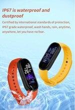 Bracelet connecté sportif M5, Bluetooth, capteur d'activité physique avec suivi du rythme cardiaque et podomètre, étanche