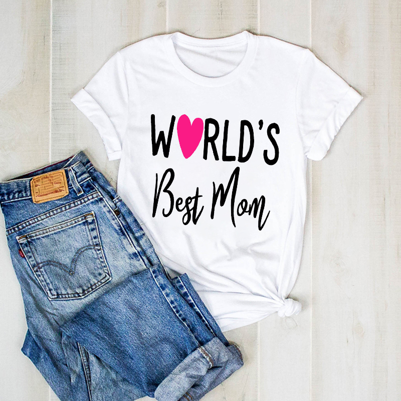 Women Lady Love Cute Mother Top Tshirt 90s Graphic T Ladies Clothes Tee Female Mom Mama Letter Womens Shirt Clothing T-shirt