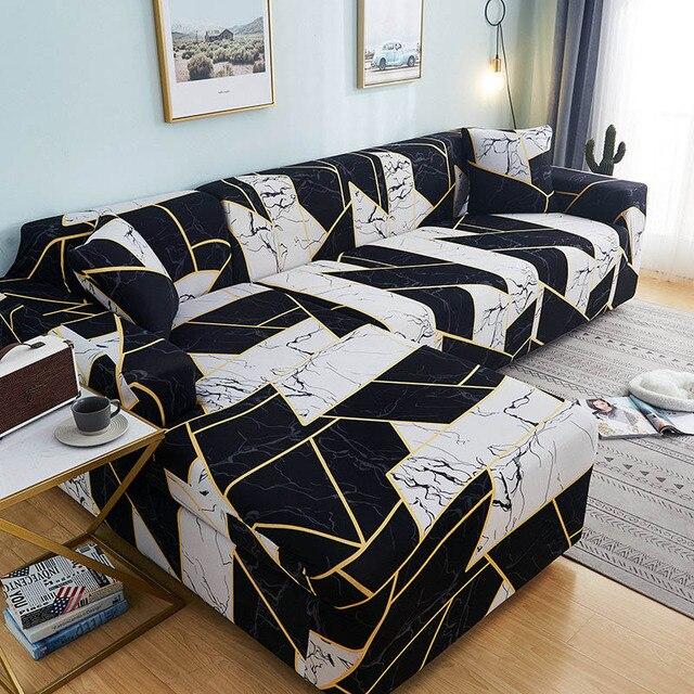 Фото накидки для углового дивана l образной формы эластичные секционные цена