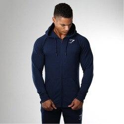 Suéter de tiburón musculoso para hombres, Casual para deportes nuevos suéter de algodón, transpirable con capucha, transpirable, para Fitness, abrigo de manga larga, moda