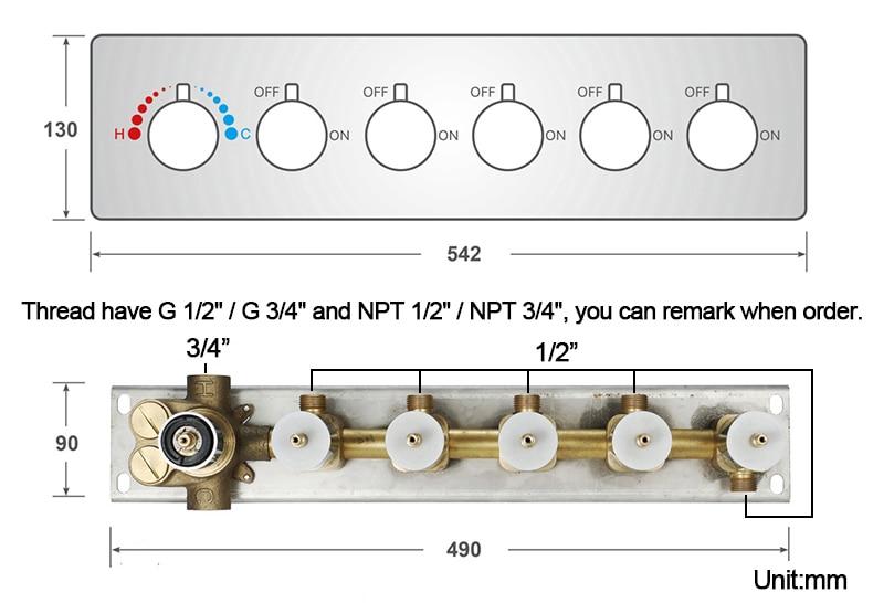 H1425bba3fe6642b0ade3cafe87a8de225 M Boenn Music Shower System Rain ShowerHeads LED Shower Set Bathroom Faucet Thermostatic Valve Matte Black/Chrome Bath Mixer Tap