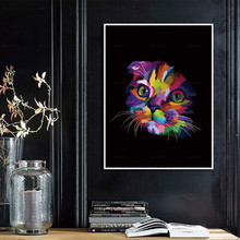 Canvas Painting Prints Lovely Colorful Cats Posters Wall Art Animals Pictures For Living Room Home Decor levi s куртка