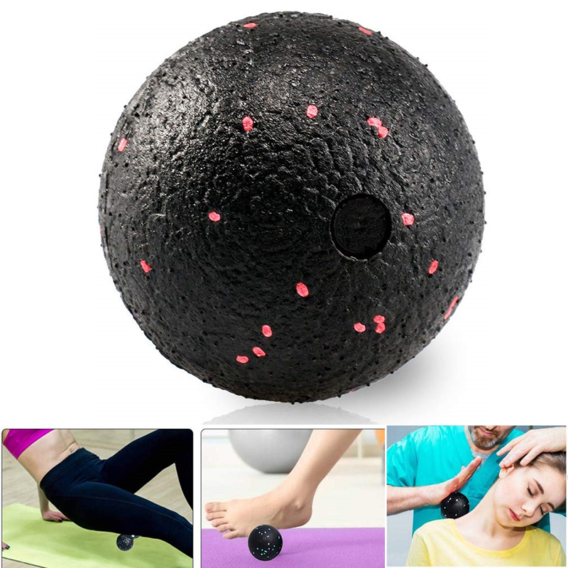 10cm High Density EPP Fitness Ball Single Massage Ball Lightweight Black Mobility Ball For Physical Therapy Deep Tissue Massage
