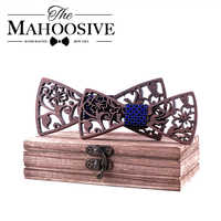 Adulto e crianças de madeira gravata borboleta conjunto laços para crianças gravata gravata gravata gravata gravata casamento escola laços presente para estudantes menino laços
