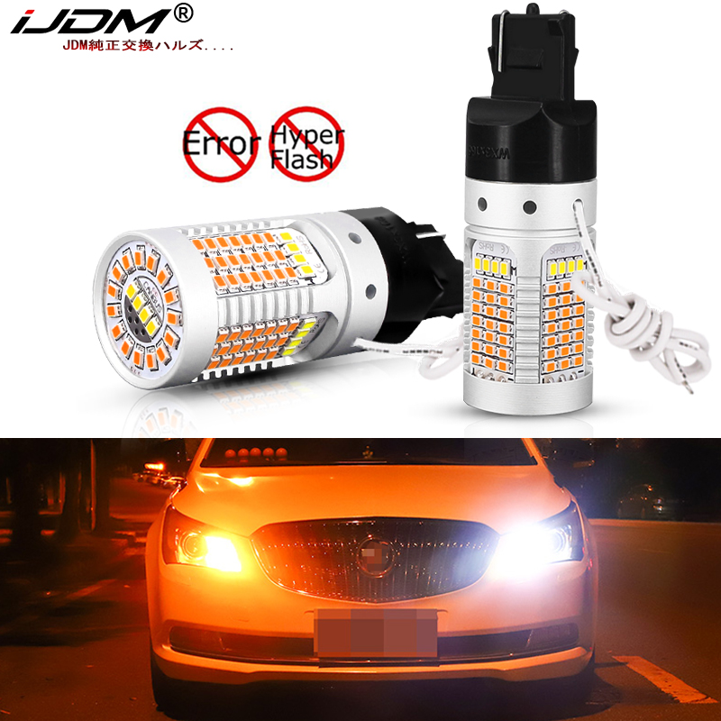 iJDM 7440/T20 <font><b>LED</b></font> No Resistor Required 21W 1156 <font><b>P21W</b></font> <font><b>LED</b></font> BAU 15S PY21W <font><b>Amber</b></font> <font><b>LED</b></font> Turn Signal,White <font><b>LED</b></font> Daytime Running Light image