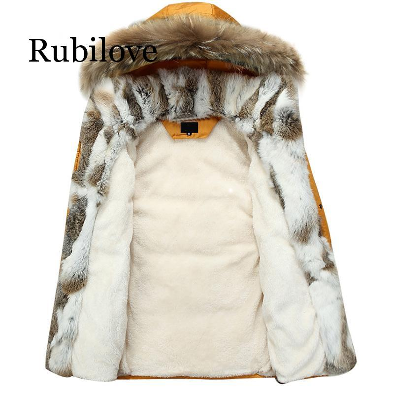 5XL White Duck Down Jacket 2019 Women Winter Goose Feather Coat Long Raccoon Fur Parka Warm Rabbit Plus Size Outerwear - 1