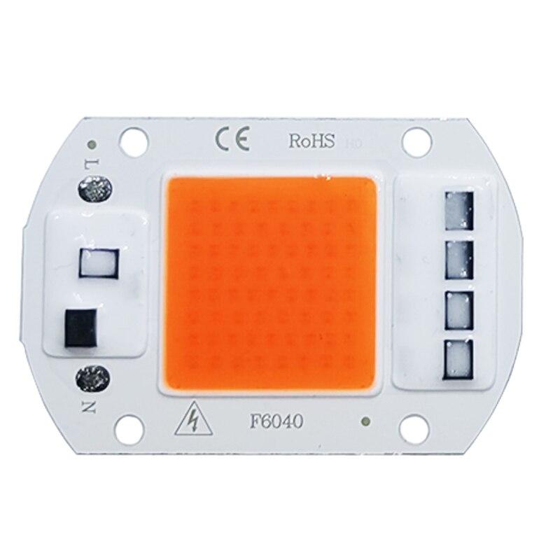 LED Grow COB ชิป Phyto โคมไฟเต็มสเปกตรัม AC220V 10W 20W 30W 50W สำหรับโรงงานในร่มต้นกล้า Grow และดอกไม้ Growth Lighting