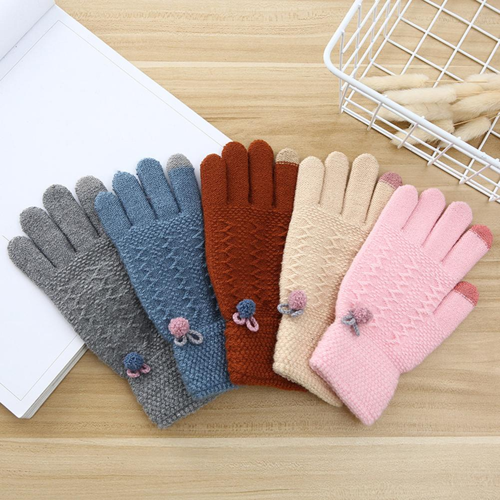 Knitted Winter Gloves Male Touch Screen Gloves High Quality Plus Velvet Thickening Warm Gloves