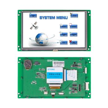 7 Inch Smart Touch Screen HMI Panel Embedded/ Open Frame LCD Display with 3 Year Warranty and UART Interface