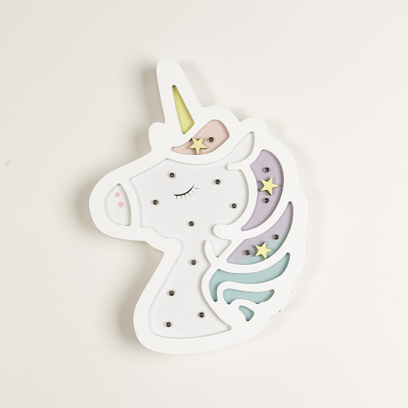 Pink White Lovely Unicorn Night Light Battery Power infantil Switch bb glow table lamp Bedroomd Bedside Decoration Kids Toys