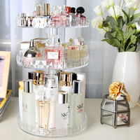 Diamond Painting Type Cosmetic Storage Holder Rack Transparent Acrylic Rotation Shelf Makeup Organizer Rangement Maquillage