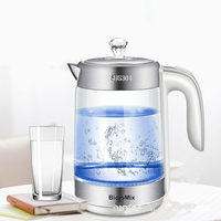 2200W Electric Kettle Teapot Quick Heating Hot Water Boiling Tea Pot Glass Blu ray Heating Kettles Auto Power Off Boiler 1.8L