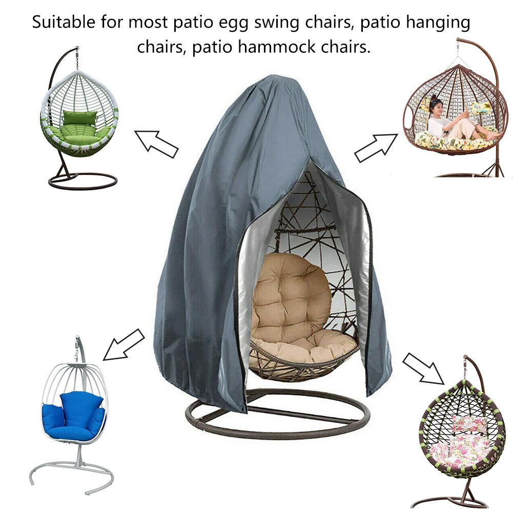 230x200cm Swing Hanging Chair Eggshell Dust Cover Waterproof UV Resistant Durable Windproof Cover Outdoor Garden Yard Products