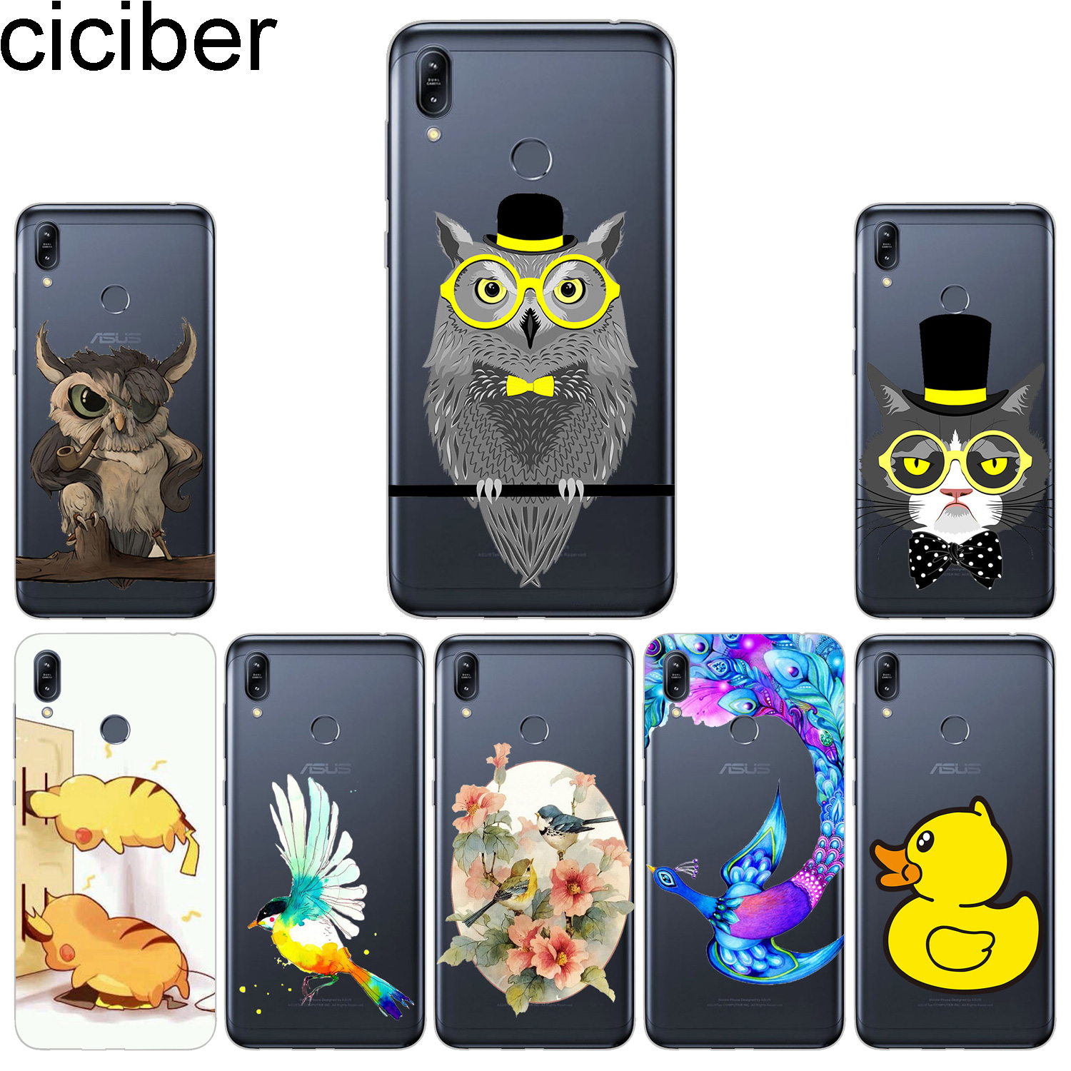 Buy ciciber Phone Cases For ASUS Zenfone Max Pro (M1) (M2) Case TPU Back Cover ZB601KL ZB602KL ZB631KL ZB633KL ZB555KL Owl Sparrow for only 1.2 USD