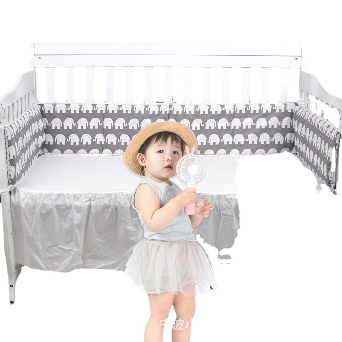 New baby crib anti-collision bed rail soft baby bed cushion variety of color patterns baby room decor baby bed bumper