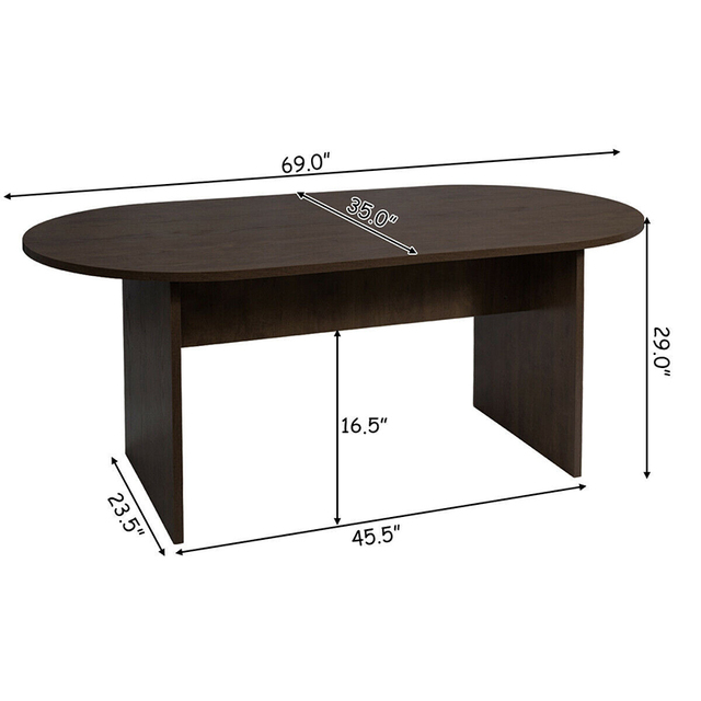 """69"""" x 35"""" Oval Conference Table 6"""