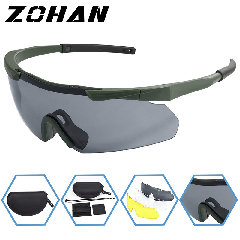 ZOHAN Polarized Cycling Riding Outdoor Sports Bicycle Glasses Men Women Mountain Bike Sunglasses 20g Goggles Eyewear 3 LensUV400