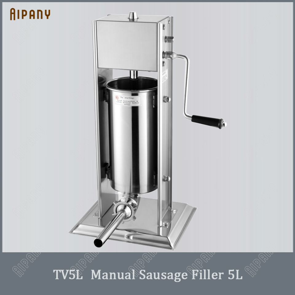 TV3L/5L/7L Manual Sausage Filler Stainless Steel Sausage Stuffer Meat Salami Frankfurter Sausage Filling Funnel