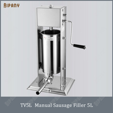 TV3L/5L/7L manual sausage filler stainless steel sausage stuffer meat salami frankfurter sausage filling funnel new tp 3754s1 touch screen perfect quality