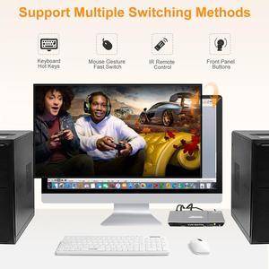 Image 5 - 2X1 Kvm Switch 4K60Hz Hdmi Kvm Switch 2Port Tesmart Hdmi Switch Ondersteuning 3840*2160/4K * 2K En Usb 2.0 Poorten Toetsenbord En Muis