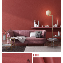 Modern simple solid color Japanese linen wallpaper Nordic style bedroom living room non