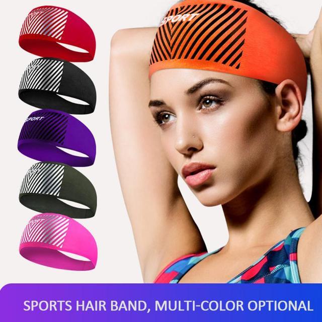 Anti-perspirant sweatband fashion unisex yoga fitness headband run indoor sports sweat guide turban protection anti-sweat  belts