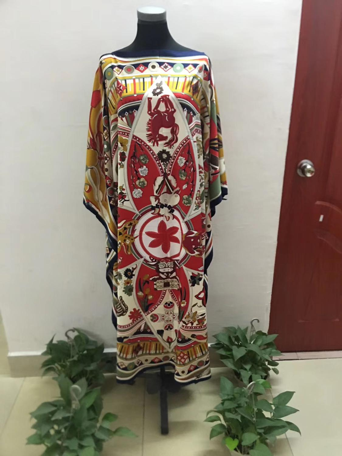 New Traditional Printed African Lady Fashion Dresses Length 130 Cm  Width 130 Cm Popular Summer Lady Boubou Dresses