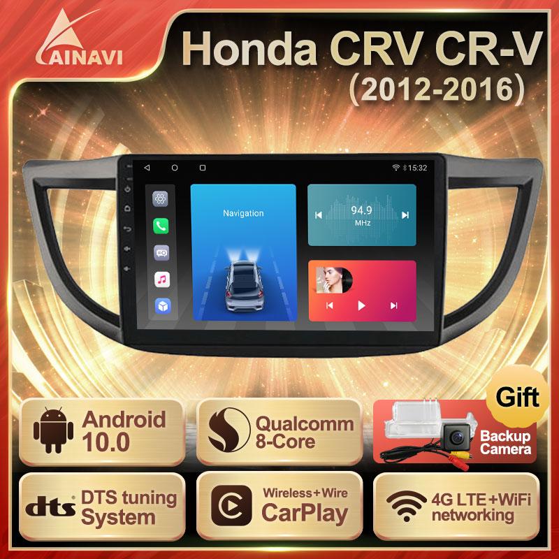 Автомобильный радиоприемник андроид 10,0 QLED Экран для Хонда сrv CR-V 4 RM RE 2012-2016 Авто Радио стерео Мультимедийный проигрыватель навигации Carplay не ...