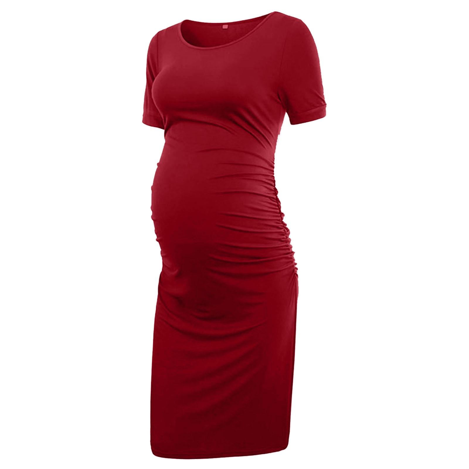 Women's Maternity Tight-Fitting Dresses