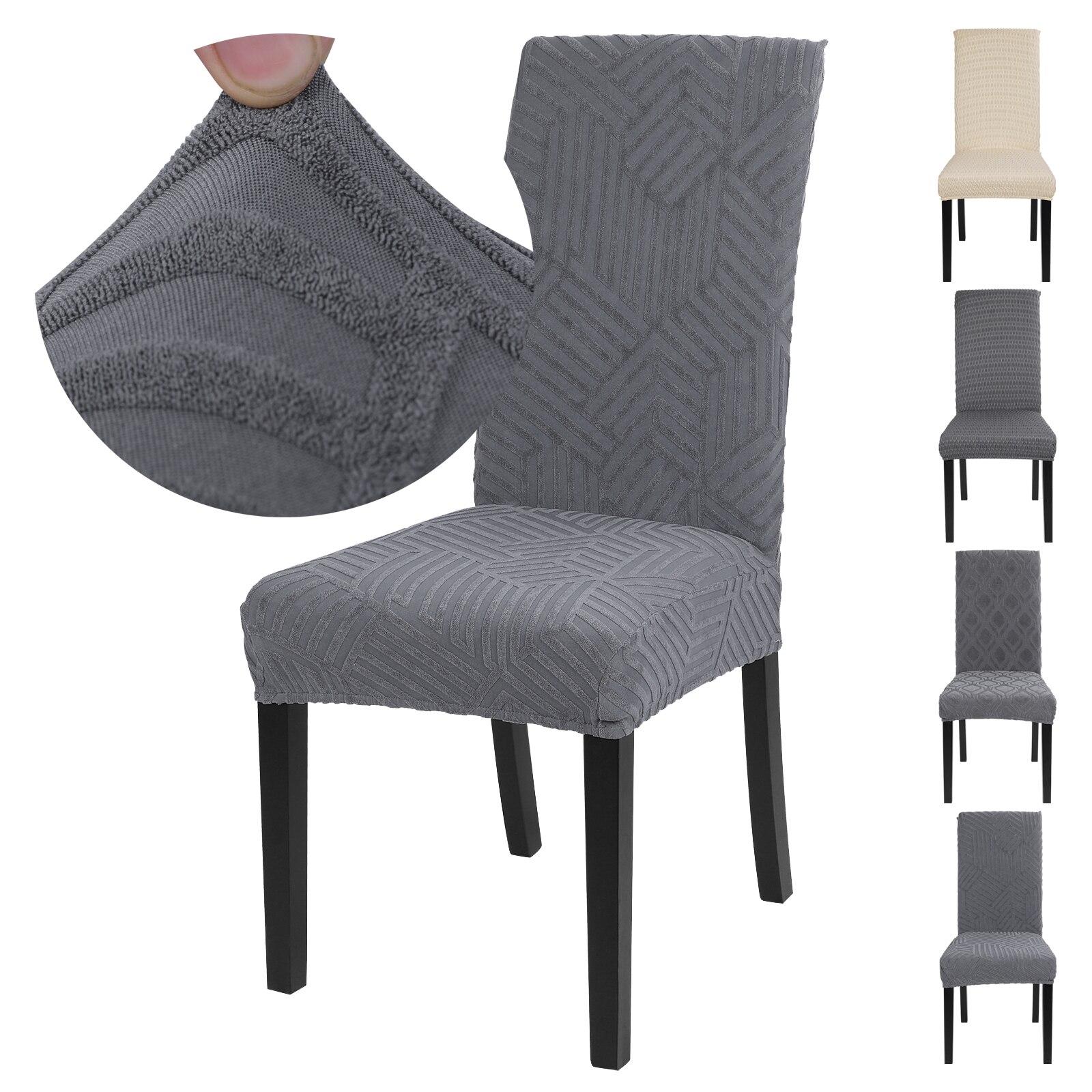 Jakar kalınlaşmak elastik streç yemek sandalye kılıfı toz geçirmez sandalye Slipcovers koltuk koruyucusu dekor düğün ziyafet için otel