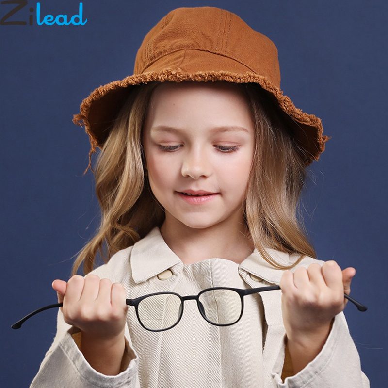 Zilead Kids Anti Blue Light Glasses Frame Silicone Children Optical Sepectacles Computer Goggles Eyeglasses
