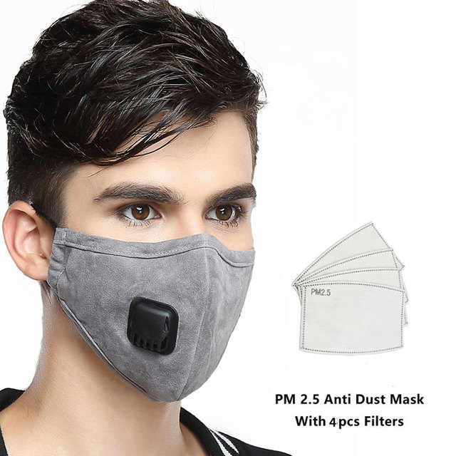 PM 2.5 Mask Full Face Protective Mask Anti-Dust Flu Mouth Masks Kn95 Respirator Activated Carbon Washable Breathing Apparatus 1
